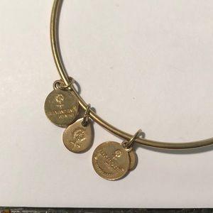 Alex and Ani Jewelry - Alex and Ani Emerald Stone Gold Bangle